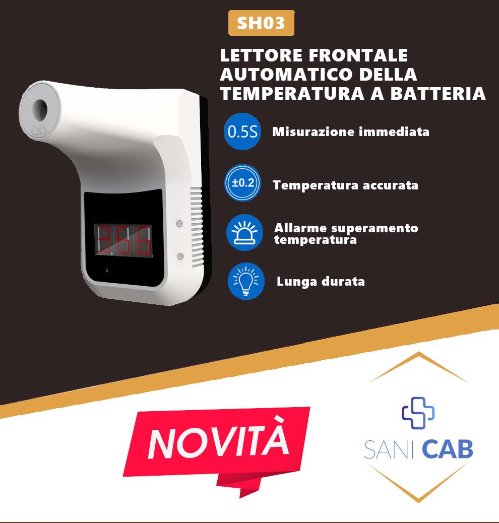 mini monitor lettura temperatura viso facciale touchless