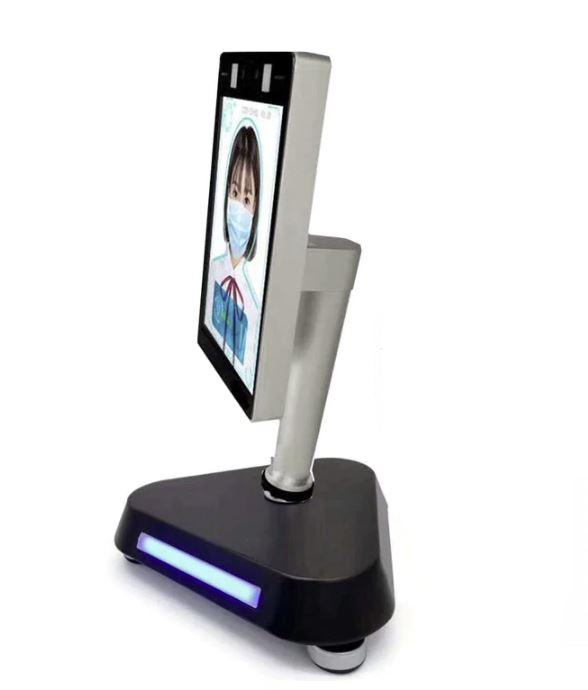 scanner viso avanzato temperatura infrarossi frontale con totem tavolo